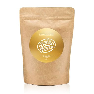Gold Shimmer Coffee Scrub