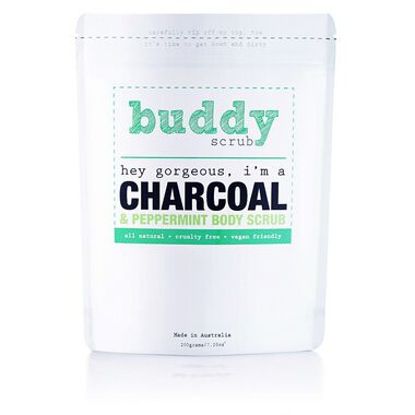 Activated Charcoal & Peppermint  Natural Body Scrub 200g