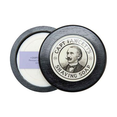 Shaving Soap With  Hand Crafted Wooden Bowl
